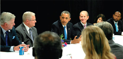 Joseph Blount and Pres. Barack Obama Roundtable