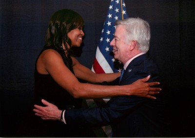 First Lady Michelle Obama and Joseph Blount
